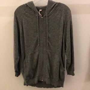 Lululemon gray wool hoodie, sz 12, 66926